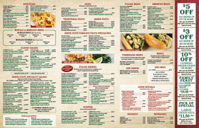 North State Pizza Menus